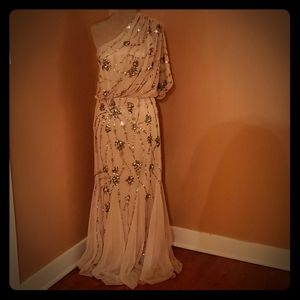 Adrianna Papell sequined gown/dress
